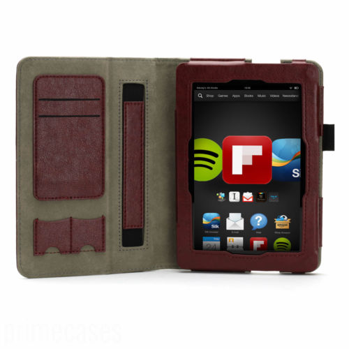 Wallet Folio Case Cover For New Kindle Fire HD 7 2nd Gen 2013